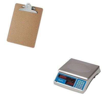 KITSBWB140UNV40304 - Value Kit - Salter Brecknell Electronic 60 lb. Coin amp; Parts Counting Scale (SBWB140) and Universal 40304 Letter Size Clipboards (UNV40304) by Salter Brecknell