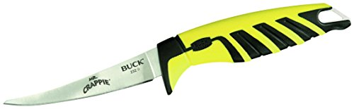 - Buck Knives 0232 Mr. Crappie 4-Inch Slab Shaver Fishing Bait Knife with Sheath
