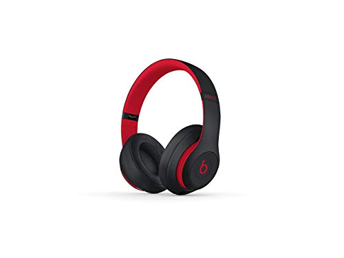 Beats Studio3 Wireless Headphones - Decade Collection, Defiant Black-Red (Renewed)
