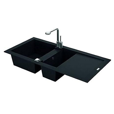 Altro - Lavello da Cucina a encaster 1 vasca e mezzo minerale ...