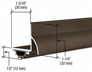 "Dark Bronze Anodized /""L/"" Shape Door Bottom with Full Notch"
