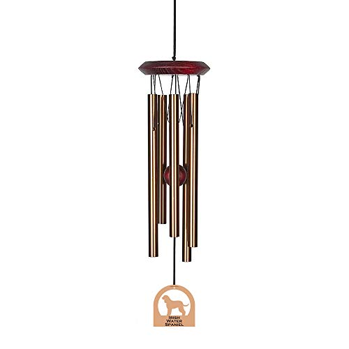 Chimes of Your Life 638845880299 Irish Water Spaniel E4234-14 Dog Wind Chime, Bronze