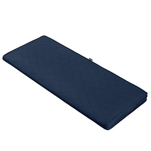 Classic Accessories Montlake FadeSafe Quilted Bench Cushion, Navy, 42