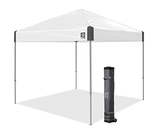 High Peak Clear Canopy - E-Z UP Ambassador Instant Shelter Canopy, 10 by 10', White Slate