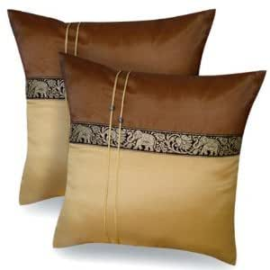 a pair of beautiful thai silk pillow covers. Black Bedroom Furniture Sets. Home Design Ideas