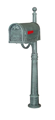 Special Lite Floral Curbside Mailbox with Ashland Mailbox Post Unit - Verde (Special Lite Floral Curbside Mailbox)
