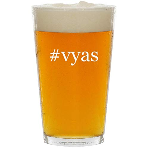 (#vyas - Glass Hashtag 16oz Beer Pint)