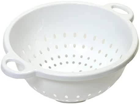 Chef Craft, 5-Quart, Deep Colander, White, 11 by 5 inch