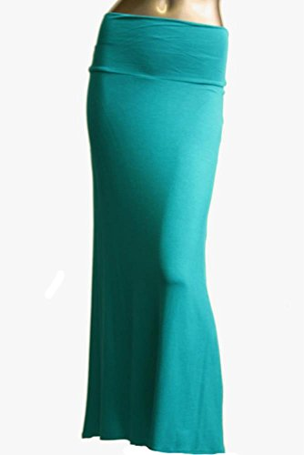Azules Women'S Rayon Span Maxi Skirt – Solid