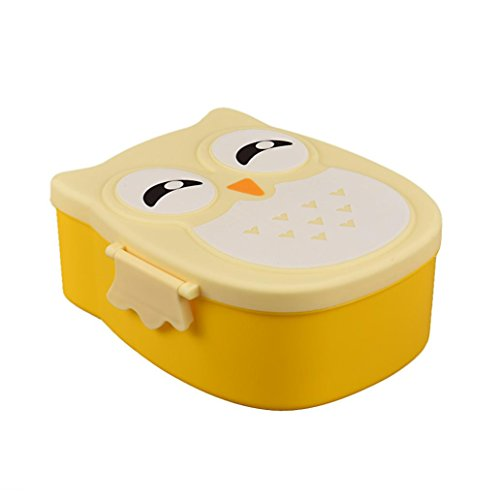 TONSEE Owl Lunch Box Food Container Storage Box Portable Bento Box (Owl Containers)