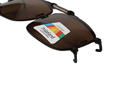 Gafas con de lentes sol 002 LianSan polarizadas Brown small clip CndxSdq