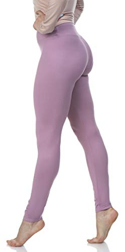 - Lush Moda Women's Basic Leggings with Yoga Waist- Extra Soft and Variety of Colors - Cali Lily