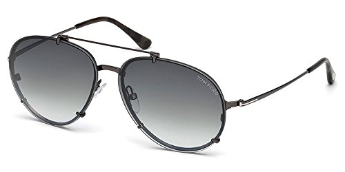 Lunettes de soleil Tom Ford Dickon FT0527 C61 08B (shiny gumetal / gradient smoke)