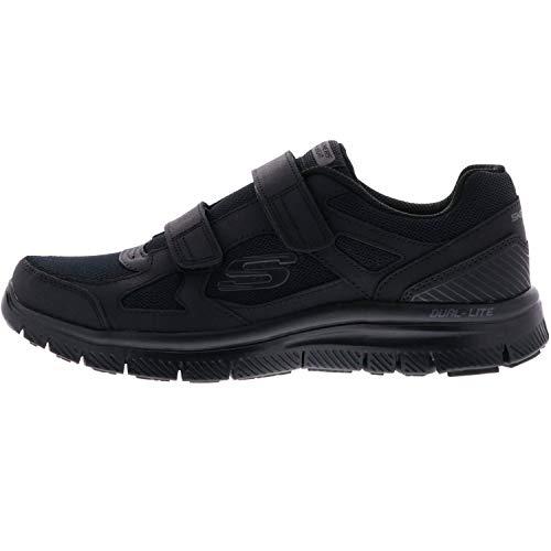 Skechers Foam Black Nero Black Memory Uomo Scarpe ESTELLO Strappo 58365 rzqSxw0Bnr
