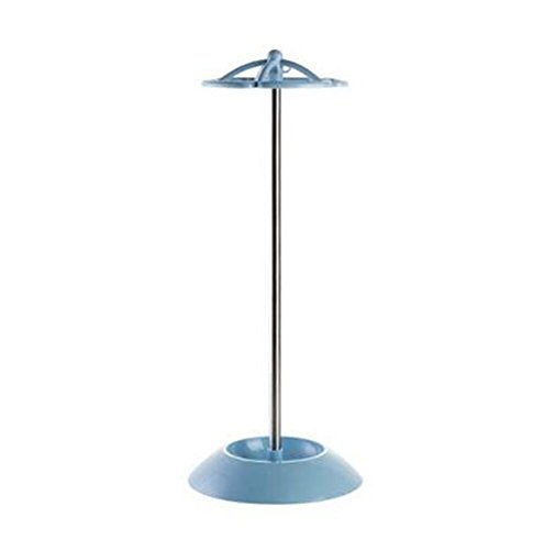 DYQ Umbrella Stand Rack for Canes/Walking Sticks with 5 Hooks, Stuitable for Folding & Long Umbrellas (Blue)