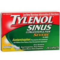Sinus Congestion and Pain Severe Caplets Daytime, 24 Caplets (Pack of 2) ()