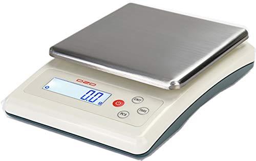 DZD DJKF bilancia da lettere 6 kg con 0, 1 g di campo di misurazione – funzionamento a corrente e a batteria e molte impostazioni 1 g di campo di misurazione - funzionamento a corrente e a batteria e molte impostazioni G&G GmbH