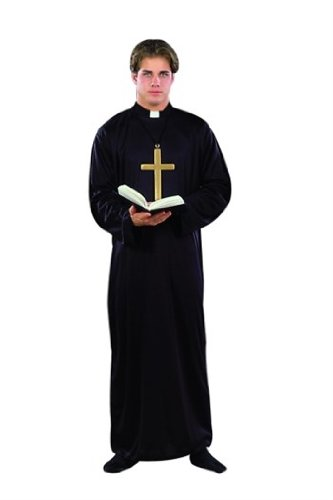 [RG Costumes Priest, Black, One Size] (Gothic Couples Costumes)