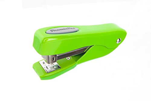 PraxxisPro, Fortis, 1/2-Strip (105 Staples) Compact Stapler, 2 to 25 Sheets, All Streel Construction, In 8 Vivid Colors (Lime Green)