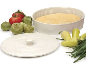 Tortilla Keeper - RSVP Stoneware Tortilla Warmer White
