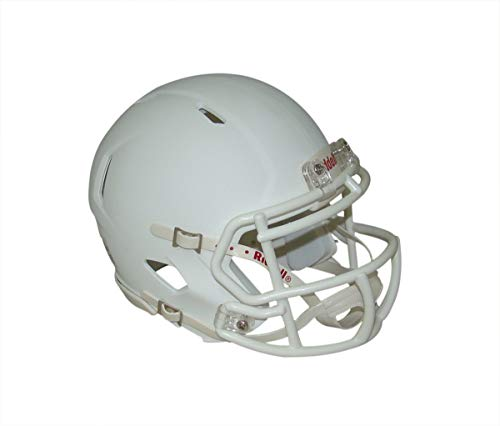 433fa5def Matte White Blank Riddell Revolution SPEED Mini Football Helmet