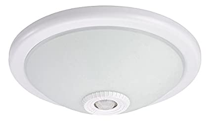 Hepoluz 42619 Aplique con Sensor, Blanco, 30 x 30 x 7 cm