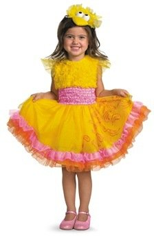 Sesame Street Big Bird Costumes (WMU 1182342 Sesame Street Big Bird Frilly Child Costume - Size 2T)