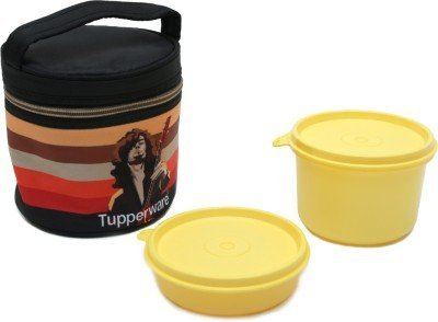 Tupperware Plastic Lunch Box with 2 Containers, Multicolour