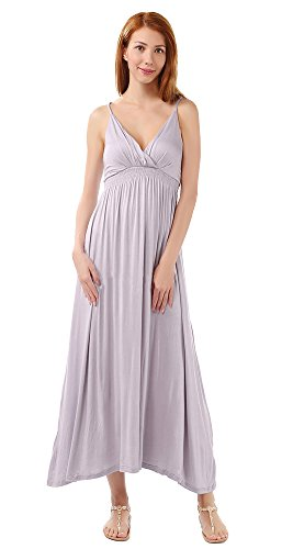 Neck Gray Bohemian Casual Straps V Womens Adjustable Dresses AvaCostume Long HzxEqRw