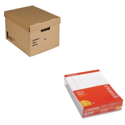 KITNSN4554036UNV20630 - Value Kit - NIB - NISH 8115014554036 File Storage Box (NSN4554036) and Universal Perforated Edge Writing Pad (UNV20630) by NIB - NISH