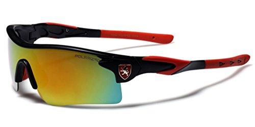 Premium Polarized Mirror Lens Sports Cycling Fishing Sunglasses - Black & - Baseball Shades