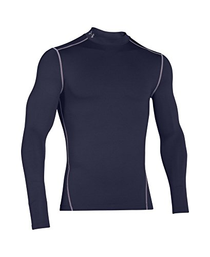 Under Armour Men's ColdGear Armour Compression Mock Long Sleeve Shirt, Midnight Navy (410)/Steel, XXX-Large by Under Armour (Image #3)