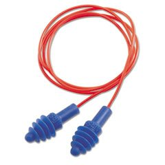 Dpas-30r Airsoft Multiple-Use Earplugs, 27nrr, Red Polycord, Blue, 100/box By: Howard Leight by - Blue Hone