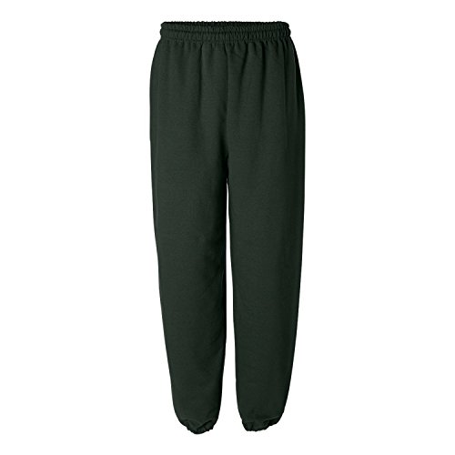 Gildan mens Heavy Blend 8 oz. 50/50 Sweatpants(G182)-FOREST GREEN-2XL (8 Oz Sweatpant)