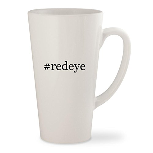 #redeye - White Hashtag 17oz Ceramic Latte Mug Cup
