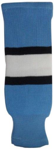 - DoGree Hockey Pittsburgh Penguins Knit Hockey Socks, Sky Blue/Black/White, Junior/24-Inch