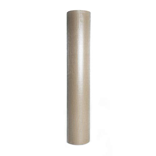 Stufery 48inx50ft 1/2 inch Mesh Openings Square Mesh Welded Wire 19 Gauge Hot-Dipped Galvanized Hardware Cloth Poultry Enclosure ()