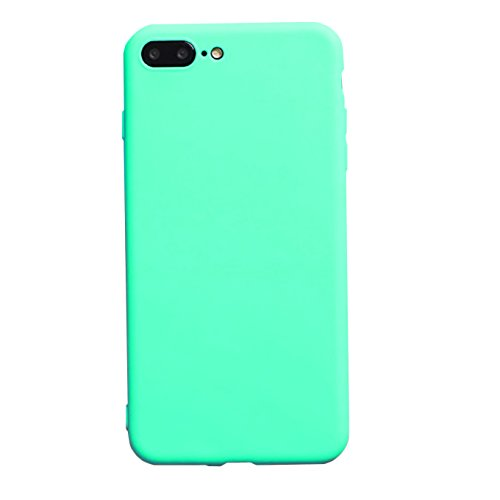 iBarbe iPhone 7 plus Case iPhone 8 plus (5.5 inch) Case,TPU protective bumper cover with ultra Slim & Rugged Shock silicone Phone Case protector for girls men and women For iPhone 7/8 plus-skyblue