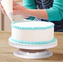 Adorox Rotating Cake Turntable Decorating Display Stand Dessert Platform Revolving Baking Supplies (1)