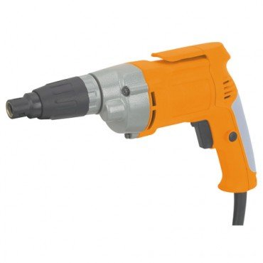 Heavy Duty Variable Speed Reversible Deck/Drywall Screwdriver; INCLUDES: built-in belt clip and four Phillips and two slotted insert bits