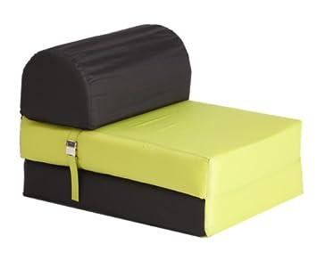 My Note Deco 066125 sillón plegable espuma poliéster/espuma de poliuretano negro/verde Anis: Amazon.es: Hogar