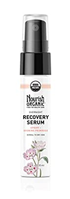 Nourish Organic Overnight Recovery Serum for Face, Argan and Evening Primrose, 0.7 Ounce from Nourish Organic