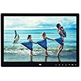 Naladoo 15 Inch LED High Definition Digital Frame Electronic Album Ultra Slim Resolution: 1280 800 With 7 Touch Button