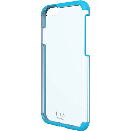 iLuv iPhone 6/6s Dual Material Protective Case with Hard Plastic Clear Back, Soft TPU Frame, Slim Lightweight Design, Raised Lip on Front, and Access to All Ports / Controls for iPhone 6/6s (Blue)