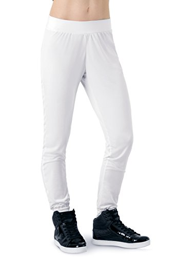 Balera Joggers Girls Pants For Dance Slim Fit Bottoms White Adult Small from Balera