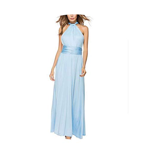 Sexy Women Boho Maxi Club Dress Red Bandage Long Dress Party Multiway Bridesmaids Robe Longue,Hole Blue,S