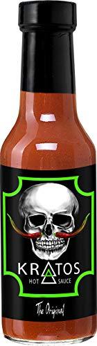 Kratos Hot Sauce | Habanero, Jalapeno, Cayenne Pepper Blend | Vegan, All Natural, Gluten-free | Flavor Heat Balance | Suicide Wing Sauce | God of War Sauce | Original, 5 Ounces