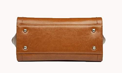 Borsa a mano per donna - Borsa a mano in pelle sintetica - Tasche multiple Tote Tracolla - Donna Elegante Moda Shopper Designer Satchel City