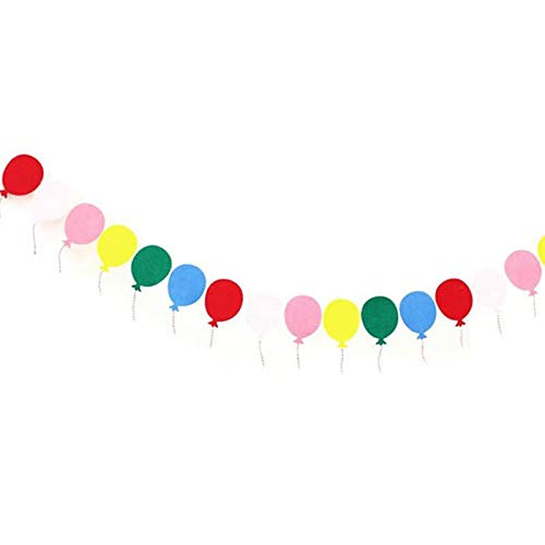Balloon Earth - Party Decor Colorful Balloon Paper Flags Garland Floral Bunting Banners Kids Birthday Baby Shower - Kids Personalized Flags Party Banners Streamers Confetti Plastic Paper G -