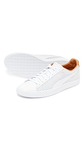 discount Cheapest cheap sneakernews PUMA Select Men's Clyde Colorblock Leather Sneakers White low price online online for sale QPg23Bbnq